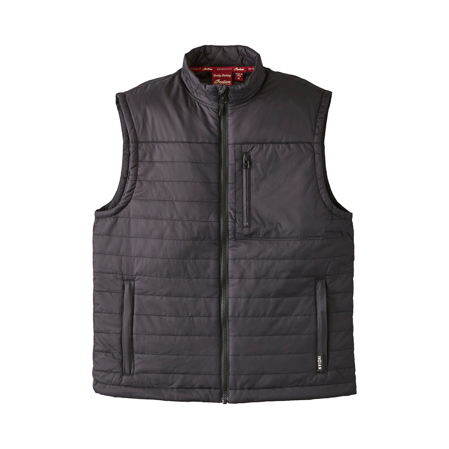 Men's Thermo Zip-Up Undervest, Black