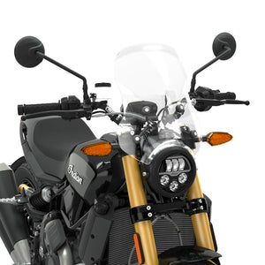 Polycarbonate Mid Windshield without Headlight Cowl, Clear (FTR)