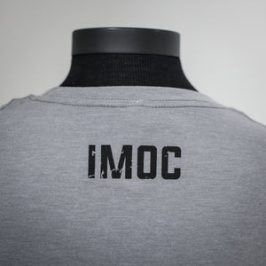 INDIAN MOTORCYCLE OF ORANGE COUNTY DISTRESSED GRAY DEALER TEE (IMOC RACING)