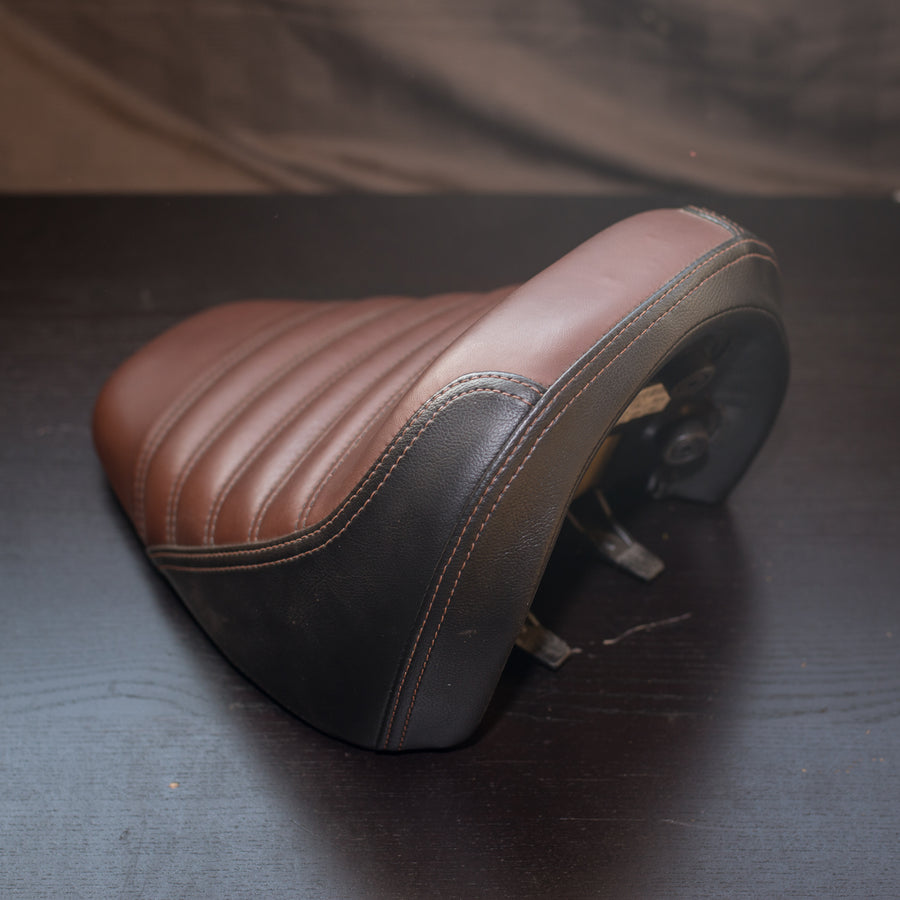 Used Indian Scout Bobber Seat, Brown Indian Motorcycle Genuine Part 2687680-VNA