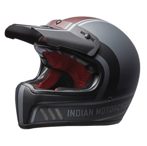 Adventure Helmet with Matte Stripe, Gray/Red