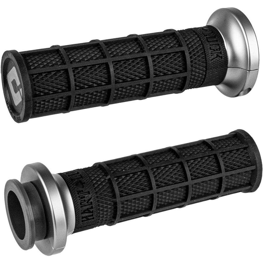 ODI V-Twin Lock-On Hart-Luck Signature Full Waffle Off-Road Hand Grips, Black/Graphite
