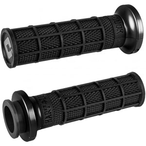 ODI V-Twin Lock-On Hart-Luck Signature Full Waffle Off-Road Hand Grips, Black