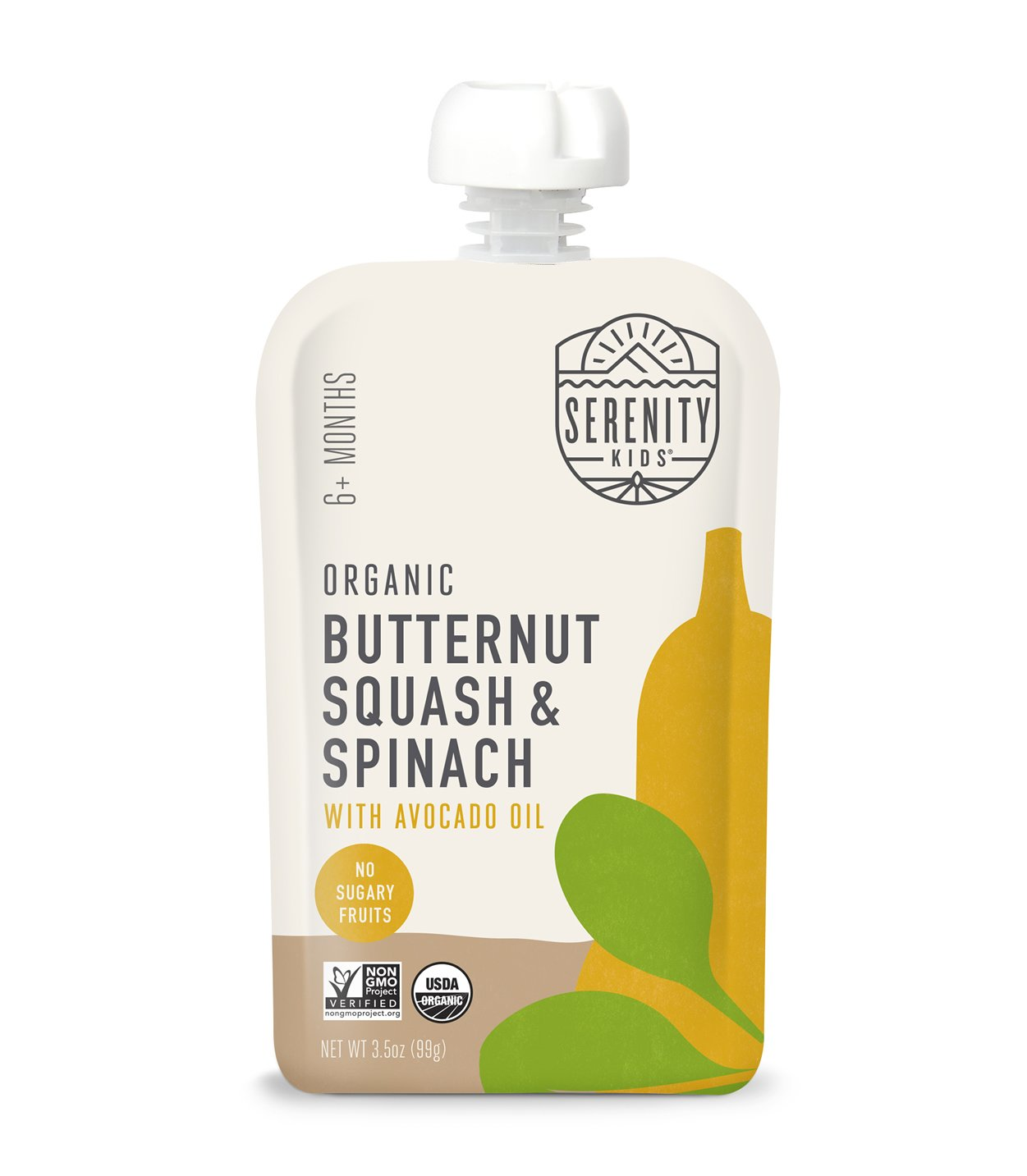 Organic Butternut Squash and Spinach