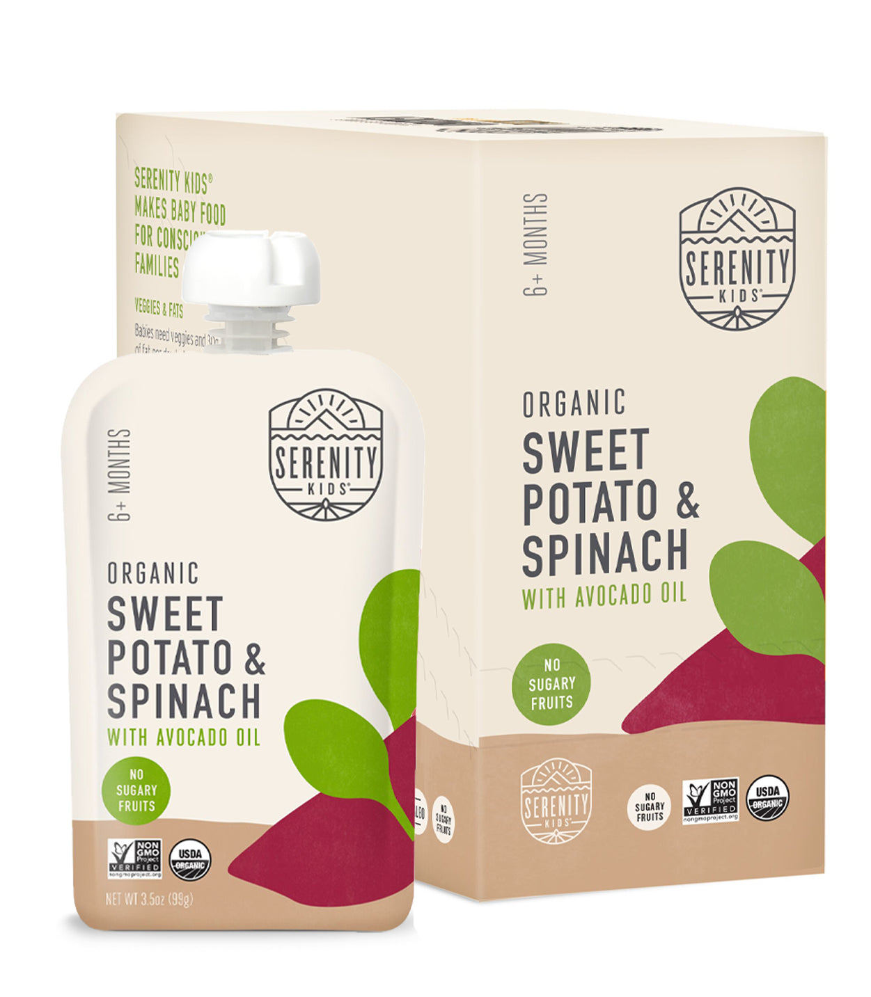 Baby Food - Organic Sweet Potato And Spinach
