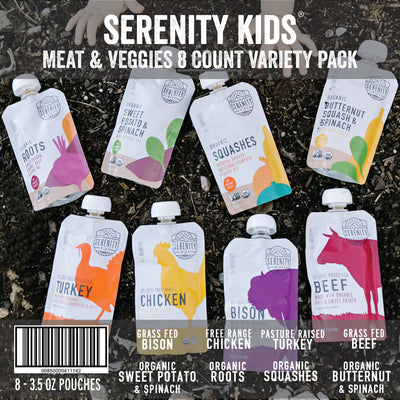 Baby Food - Serenity Kids Meat & Veggies Variety Pack