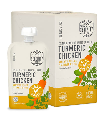 Baby Food - Turmeric Chicken With Bone Broth