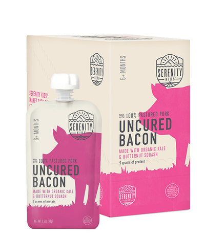 Baby Food - Uncured Bacon With Organic Kale And Butternut Squash