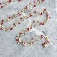 OOAK Uninhibited Necklaces with Czech Preciosa Crystals and Glass Beads