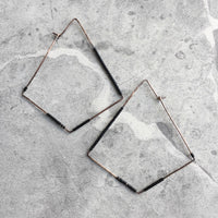 Amplified Diamond Hoop Earrings