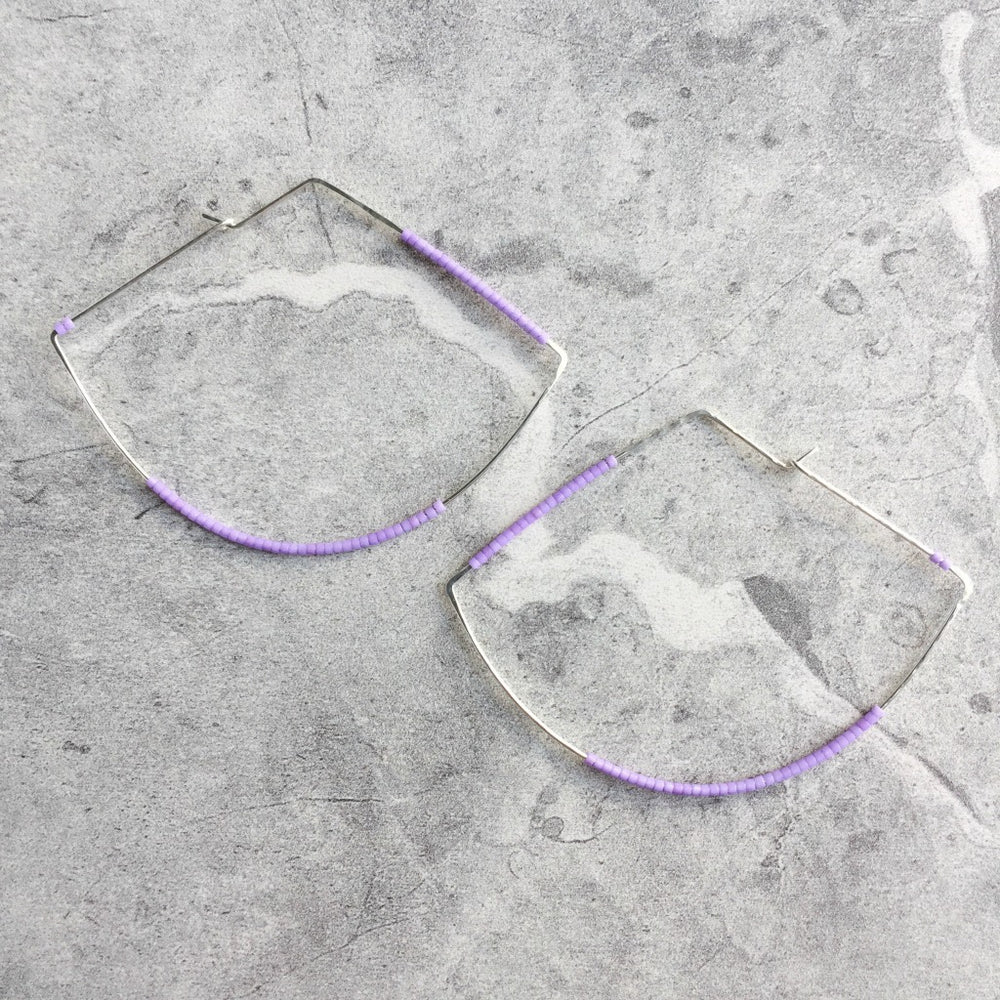Amplified Pendulum Hoop Earrings