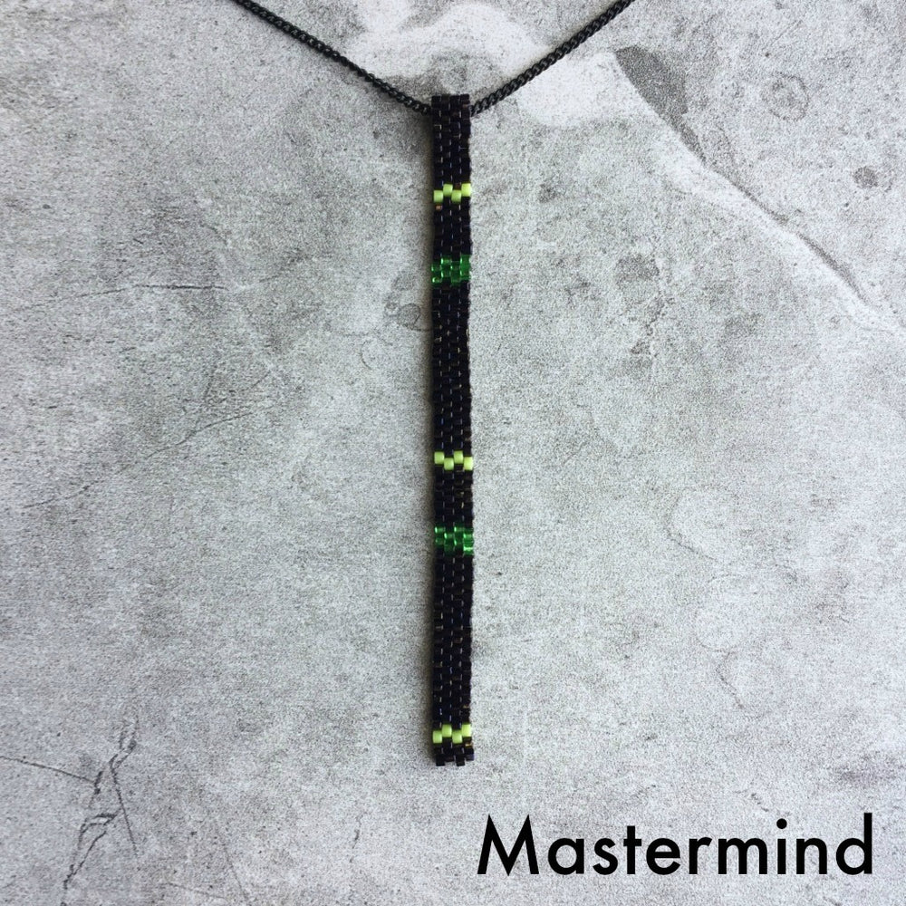 Peyote Stitch Beaded Pendant Necklace