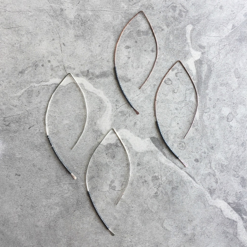 Amplified Marquis Hoop Earrings