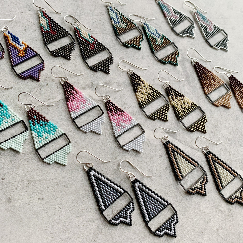 Brick Stitch Small Triangle Earrings