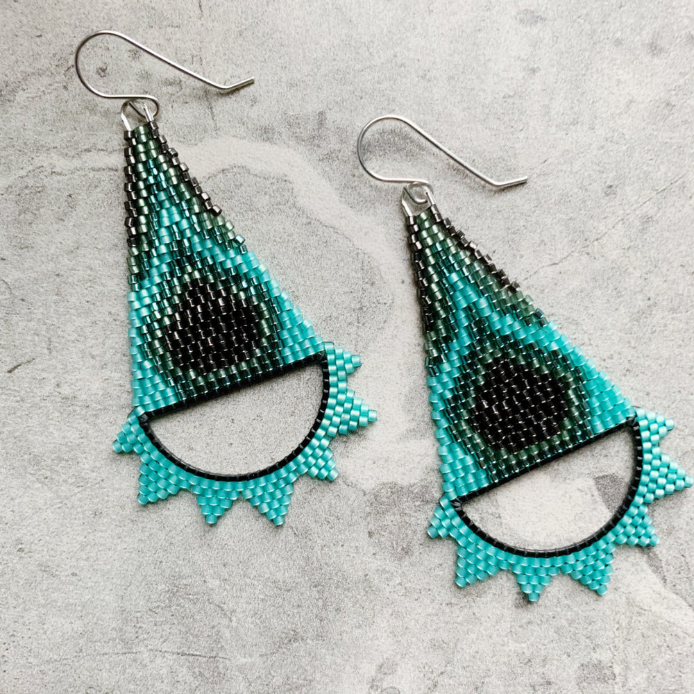 Brick Stitch Triangle Earrings