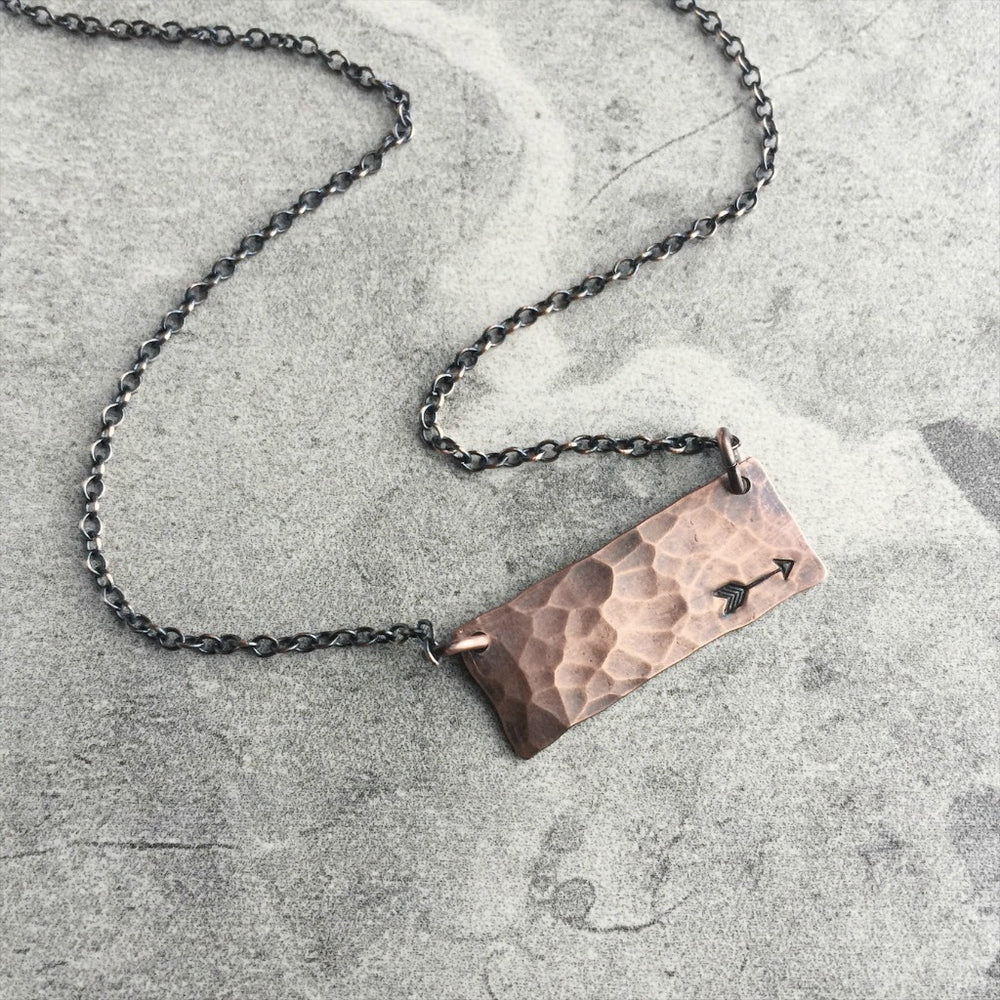 Hand Stamped Copper Bar III
