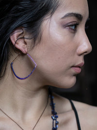 Opulent Pendulum Hoop Earrings