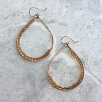 Lavish Teardrop Hoop Earrings