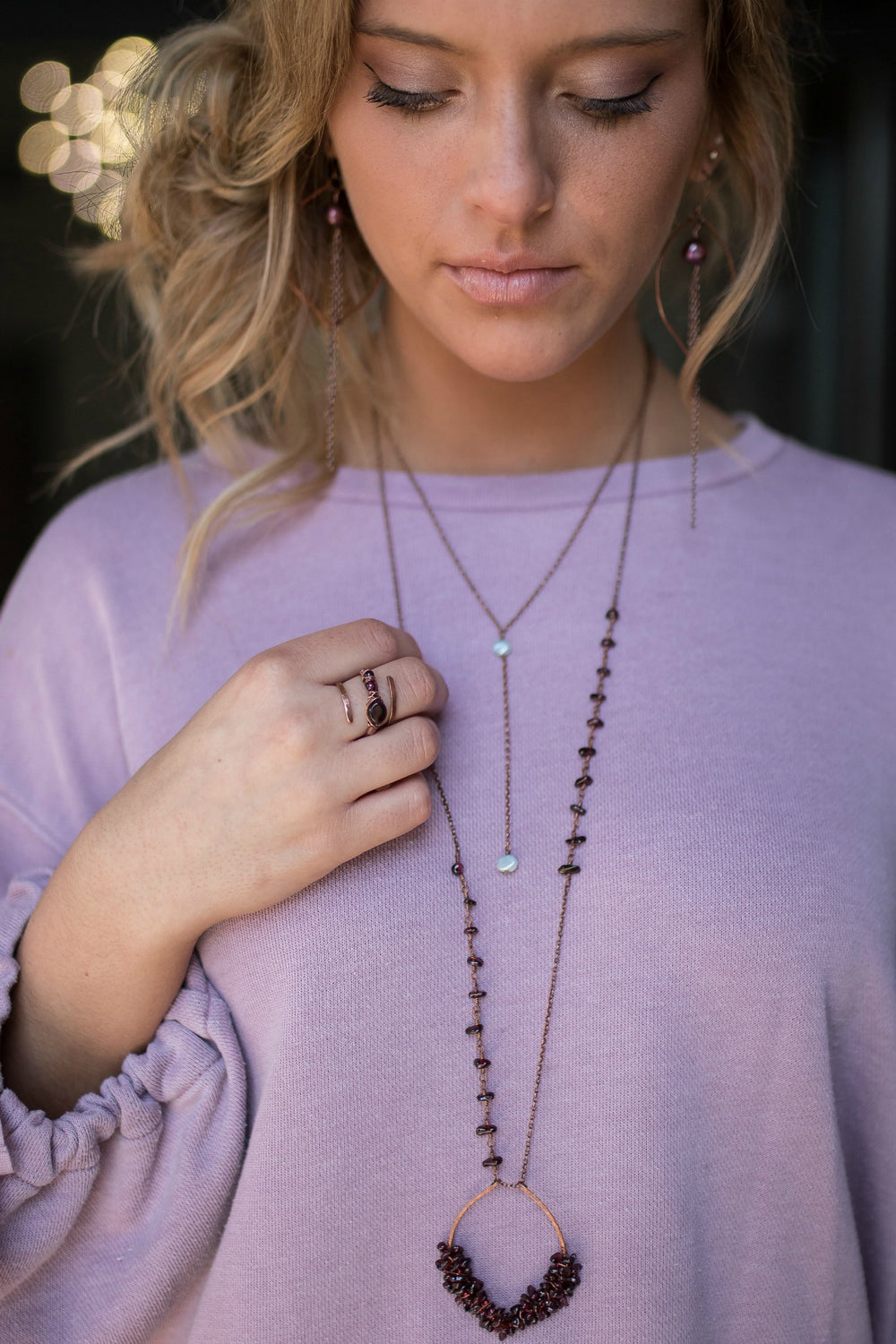 Tranquility Y Drop Necklace