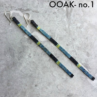 Long Shoulder-Duster Peyote Stitch Beaded Earrings