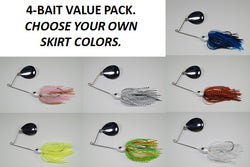 Cyclebait ELITE 1/2 OZ COLORADO - Custom Four Bait Value Pack - Click then enter your skirt colors