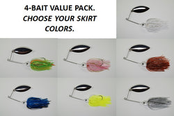 Cyclebait ELITE 1/2 OZ WILLOWLEAF - Custom Four Bait Value Pack - Click then enter your skirt colors