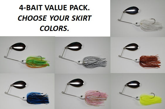 Cyclebait ELITE 1/2 OZ INDIANA - Custom Four Bait Value Pack - Click then enter your skirt colors