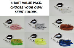 The Cyclebait ELITE MINI 1/2 OZ - Custom Four Bait Value Pack - Click then enter your blade and skirt colors