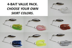 Cyclebait FLEX 3/8 OZ - Custom Four Bait Value Pack - Click then enter your skirt colors