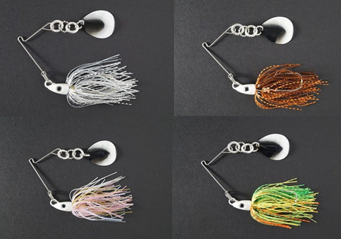 CycleBait SwingBack 1/2-oz with 5+ blade  - Value Pack:  Silver Shad/Spring Craw/Pink Shad/Fire Tiger
