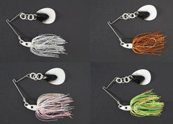 CycleBait SwingBack 1/2-oz with 6+ blade  - Value Pack:  Silver Shad/Spring Craw/Pink Shad/Fire Tiger