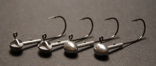 Football Jigs - Two 1/4 oz and Two 1/8 oz