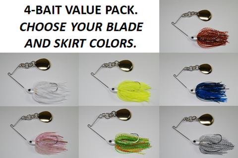 Original Cyclebait 1/2 oz - Custom Four Bait Value Pack - Click then enter your blade and skirt colors