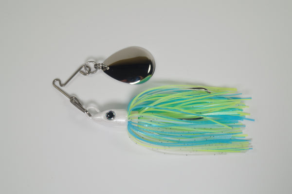 LIMITED EDITION - 1/2 oz Cyclebait Swingback MINI - Nickel Blade - Sexy Shad Skirt