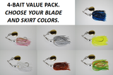 The Cyclebait Swingback MINI 1/2 oz - Custom Four Bait Value Pack - Click then enter your blade and skirt colors
