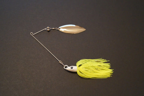 Long Arm Willow Spinnerbait 1/2-oz - Chartreuse