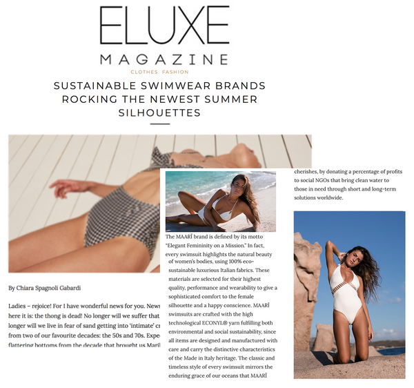 eluxe magazine maarï maari sustainable luxury swimwear