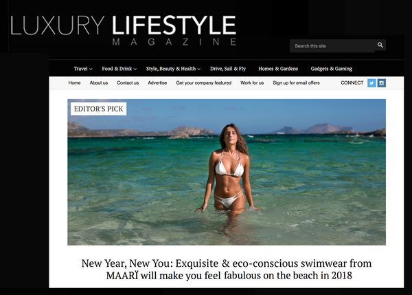 luxury lifestyle magazine maarï maari sustainable luxury swimwear
