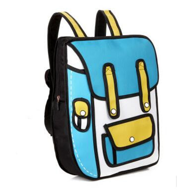 Cartoon 2D School Bag