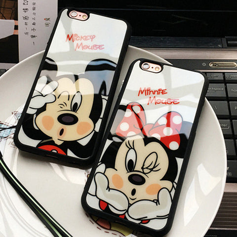 Mickey Mouse / Minnie TPU silicon case For iPhone