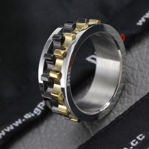 Moveable Gear SS Ring