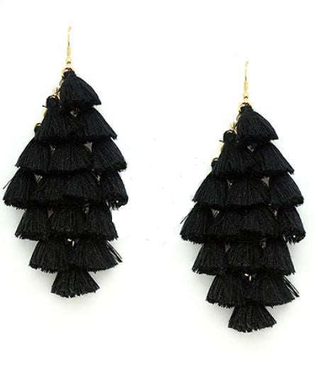 Black Shimmey Tassel - 4ever Unicorn Fashion