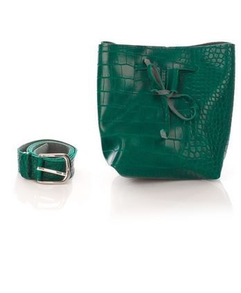 Green Croc Belt Bag