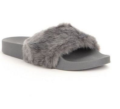 Gray Softey Slides - 4ever Unicorn Fashion