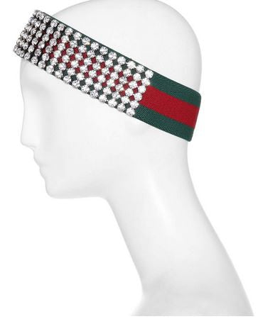 Inspired Red & Green Crystal Headband-4ever Unicorn Fashion-4ever Unicorn Fashion