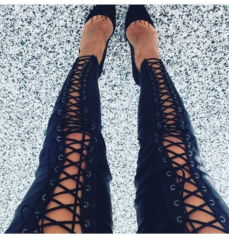 Thigh Lace up me up! - 4ever Unicorn Fashion