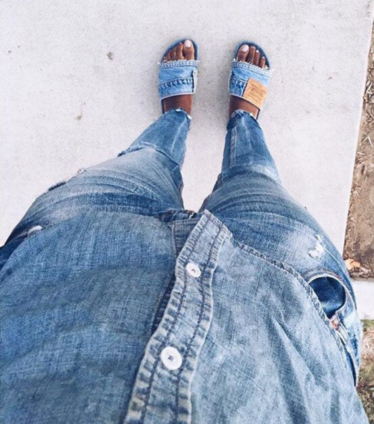 Unicorn Denim Slides - 4ever Unicorn Fashion