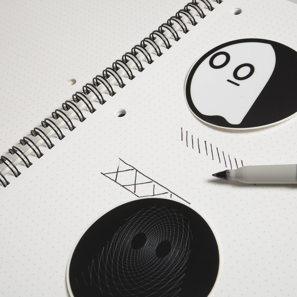 Dot Grid Book: Ghostly Edition