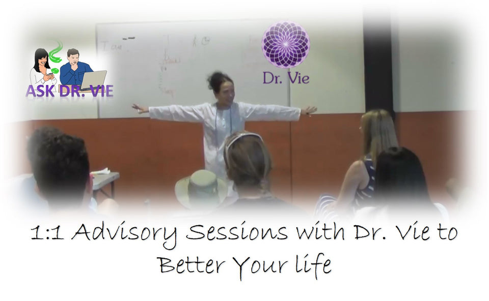 Personal advisory sessions with Dr. Vie to better your life
