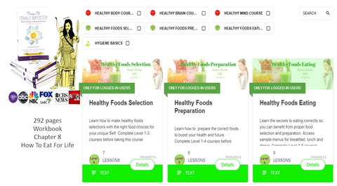 Dr Vie Academy Healthy Foods course and Book